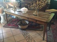 Noyer table a 2 tiroirs  2m x 83cm  h74.jpg