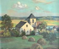 Wenz Frederic Huile sur toile Paysage 65x54cm.JPG